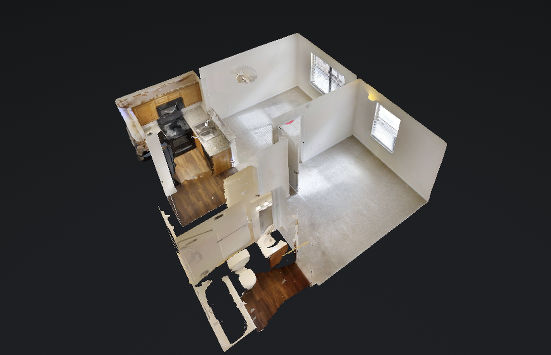 Dollhouse View of Floor Plan