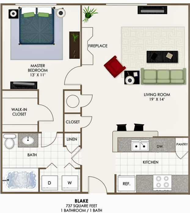 The Blake Floor Plan Image